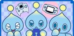 :o background chao_(sonic) checkered checkered_background controller creature expressions frown game_boy_advance game_console game_controller gamecube_controller handheld_game_console lowres sega_dreamcast smile sonic_the_hedgehog