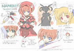 5girls :d ahoge blonde_hair blue_eyes blush braid brown_hair bunny copyright_name fate_testarossa gloves graf_eisen green_eyes hair_ornament hair_ribbon hammer hat jacket long_hair lyrical_nanoha magical_girl mahou_shoujo_lyrical_nanoha mahou_shoujo_lyrical_nanoha_a's mahou_shoujo_lyrical_nanoha_the_movie_2nd_a's multiple_girls open_clothes open_jacket open_mouth puffy_sleeves purple_eyes red_eyes red_hair reinforce ribbon saliva short_hair short_twintails smile soukai_(lemonmaiden) stuffed_animal stuffed_bunny stuffed_toy sweater takamachi_nanoha translation_request twin_braids twintails vita white_devil x_hair_ornament yagami_hayate