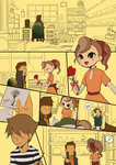 2boys 2girls angry aroma_reinhold blush brown_hair comic flower hat hershel_layton klaus_(professor_layton) letter maki56565 multiple_boys multiple_girls professor_layton red_rose rosa_grimes rose short_ponytail silent_comic smile spoilers spoken_object top_hat