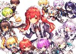 absurdres add_(elsword) ainchase_ishmael aisha_(elsword) april_fools ara_han bell biscuit book butler cake candle chung_seiker ciel_(elsword) crossdressing cup dish elesis_(elsword) elsword eun_(elsword) eve_(elsword) everyone facial_mark food forehead_jewel fork ha_youn highres luciela_r._sourcream maid mechanical_ears raven_(elsword) rena_(elsword) rose_(elsword) tea tea_set teacup