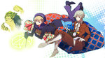 2boys axis_powers_hetalia bird blonde_hair blue_eyes book boots eterno full_body hat highres iceland_(hetalia) magic_circle male_focus multiple_boys norway_(hetalia) puffin purple_eyes reading sailor sailor_hat summoning