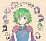 3girls 6+boys bandana black_hair blonde_hair blue_eyes book brothers brown_hair canas cape closed_eyes closed_mouth commentary_request erk_(fire_emblem) facial_hair fire_emblem fire_emblem:_rekka_no_ken florina green_hair grin hairband headband hira_(otemoto84) horse jaffar_(fire_emblem) legault linus_(fire_emblem) lloyd_(fire_emblem) long_hair merlinus_(fire_emblem) monocle multiple_boys multiple_girls mustache nino_(fire_emblem) one_eye_closed open_book open_mouth purple_hair rebecca_(fire_emblem) short_hair siblings smile star upper_body
