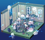 +_+ 6+girls :d >_< absurdly_long_hair abyssal_admiral_(kantai_collection) ahoge aircraft_carrier_oni battleship_hime battleship_water_oni beer_can black_dress black_hair blue_eyes blush braid calendar_(object) can cape chibi claws commentary_request detached_sleeves dress drunk enemy_aircraft_(kantai_collection) gauntlets glasses hair_between_eyes hanging_scroll headgear headphones heavy_cruiser_hime hi_ye holding horn horns i-class_destroyer kantai_collection long_hair lying mittens multiple_girls northern_ocean_hime off-shoulder_dress off_shoulder one_side_up open_mouth power_fist red_eyes scroll seaport_hime shinkaisei-kan single_braid smile spaghetti_strap supply_depot_hime ta-class_battleship table tatami translation_request very_long_hair white_dress white_hair white_skin wo-class_aircraft_carrier xd