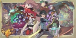 5girls 6+boys absol alternate_costume breathing_fire charizard electricity fire flame flower gen_1_pokemon gen_3_pokemon gen_4_pokemon gym_leader hair_between_eyes haruka_(pokemon) hat headband hikari_(pokemon) kasumi_(pokemon) kirlia knife magic multiple_boys multiple_girls nishihara_isao no_hat no_headwear parody piplup pokemon pokemon_(anime) pokemon_(creature) pokemon_(game) pokemon_dp_(anime) pokemon_gsc pokemon_rgby pokemon_rse red_(pokemon) red_(pokemon_rgby) rose salamence satoshi_(pokemon) shinji_(pokemon) sword torterra tree tsukushi_(pokemon) tsuwabuki_daigo twintails weapon yuuki_(pokemon) zangoose
