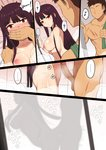 ... 1boy 1girl ? ass bangs blunt_bangs blush breasts brown_hair censored comic covering_mouth erection faceless faceless_male girls_frontline hetero large_penis long_hair mosaic_censoring nipples nt00 nude penis purple_hair red_eyes scar sex shower_head silhouette spoken_ellipsis spoken_question_mark steam testicles towel wa2000_(girls_frontline)