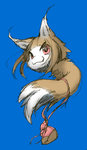 animal_ears digimon holo ikuta_takanon no_humans red_eyes solo spice_and_wolf tail wolf_ears wolf_tail