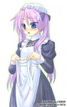 1girl alternate_costume enmaided genshi hiiragi_kagami lucky_star maid purple_hair solo