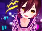 1girl 3d :d ^_^ ^o^ adjusting_hair animated blurry blurry_background blush breasts brown_hair camouflage_hoodie closed_eyes collarbone gloves hair_between_eyes hands_on_legs indian_style kuromaru9 light_particles looking_at_viewer looking_to_the_side medium_breasts mp4 open_mouth pink_hoodie roboco-san roboco_ch. robot_joints robotic_legs shaking_head sitting smile solo virtual_youtuber yellow_eyes