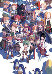 6+boys 6+girls ahoge antenna_hair archer_(disgaea) backpack bag bandana beltbra black_eyes black_hair black_legwear blonde_hair blue_eyes boots bow bra bracelet braid brown_hair closed_eyes creature detached_sleeves disgaea dress drill_hair earrings energy_sword etna female_angel_(disgaea) female_brawler_(disgaea) female_warrior_(disgaea) flat_gaze flonne goggles goggles_on_head green_hair hair_bow hairband halo harada_takehito headband healer_(disgaea) japanese_clothes jewelry kimono knee_boots laharl lightsaber long_hair mage_(disgaea) magic_knight_(disgaea) majin_(disgaea) makai_senki_disgaea male_brawler_(disgaea) male_healer_(disgaea) male_warrior_(disgaea) mid-boss_(disgaea) multiple_boys multiple_girls ninja_(disgaea) official_art pants pointy_ears ponytail prinny purple_hair red_eyes red_hair ronin_(disgaea) scarf scout_(disgaea) scythe shirtless short_hair shorts skull_(disgaea) smile spiked_hair staff standing strapless_dress sword thief_(disgaea) thighhighs twin_drills twintails underwear weapon white_background