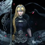 1girl 3d armor blonde_hair copyright_name fate/apocrypha fate/grand_order fate_(series) headpiece highres jeanne_d'arc_(fate) jeanne_d'arc_(fate)_(all) long_hair weapon yun_sihang