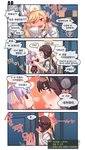 /\/\/\ 2girls 4koma :d aningay bangs black_gloves blonde_hair blush brown_eyes brown_hair character_doll check_translation comic doll eyebrows_visible_through_hair female_commander_(girls_frontline) fingerless_gloves fur_hat girls_frontline gloves grey_vest hair_between_eyes hat heart highres holding holding_doll jacket korean_text long_hair long_sleeves multiple_girls nagant_revolver_(girls_frontline) nose_blush open_mouth parted_lips profile qbu-88_(girls_frontline) red_eyes shirt short_sleeves smile translation_request very_long_hair vest white_headwear white_jacket white_shirt