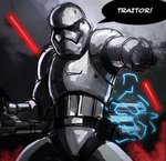 1boy armor baton body_armor electricity first_order fn-2199 frostseven highres pointing riot_control_stormtrooper science_fiction star_wars star_wars:_the_force_awakens stormtrooper tonfa weapon