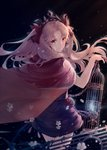 1girl birdcage black_dress blonde_hair brown_eyes cage cape diadem dress earrings ereshkigal_(fate/grand_order) eyebrows_visible_through_hair fate/grand_order fate_(series) floating_hair flower from_behind hair_ribbon holding holding_cage jewelry long_hair looking_back pixiv_fate/grand_order_contest_2 red_cape red_flower red_ribbon red_rose ribbon rose short_dress shuryukan solo standing very_long_hair white_flower