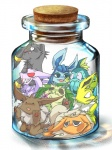 3d bad_id bad_pixiv_id blood cork eevee espeon flareon glaceon jar jolteon kuuneru leafeon minimized no_humans nosebleed pokemon pokemon_(creature) red_eyes scared umbreon vaporeon