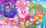 1boy 4girls bandana blade_knight blonde_hair blue_hair broom broom_hatter castle commentary_request como_(kirby) covered_mouth drop_shadow faceless flamberge_(kirby) francisca_(kirby) hat heart heart_eyes hyness jester_cap kirby kirby:_star_allies kirby_(series) multiple_girls official_art one-eyed plugg_(kirby) red_hair smile sparkle staff sweeping vividria waddle_dee waddle_doo zan_partizanne