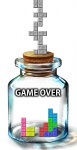 6q_(rokuku) bad_id bad_pixiv_id bottle cork game_over glass jar meme no_humans parody tetris