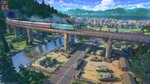arsenixc blue_sky cloud cloudy_sky commentary_request day flag ground_vehicle highres jeep lake m109_howitzer m2_bradley military military_base military_vehicle motor_vehicle no_humans original outdoors railroad_tracks river road scenery sky smoke sunlight tank train tree truck tunnel vehicle_request water
