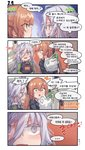 ... /\/\/\ 2girls 4koma :o ? ?? aningay backpack bag bangs black_bow black_jacket blush bow brown_hair closed_mouth collared_shirt colored_eyelashes comic eye_contact eyebrows_visible_through_hair girls_frontline green_eyes green_shirt grey_eyes groceries grocery_bag hair_between_eyes hair_bow highres jacket korean_text long_hair looking_at_another m1903_springfield_(girls_frontline) multiple_girls object_hug open_mouth plastic_bag ponytail profile sharp_teeth shirt shopping_bag silver_hair spoken_ellipsis teeth translation_request very_long_hair xm8_(girls_frontline)
