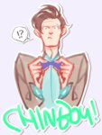 1boy bowtie doctor_who eleventh_doctor jacket kamaboko_(moyaciv) shirt simple_background solo