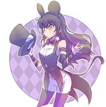 1girl animal_ears black_hair blake_belladonna cat_tail disney hat iesupa mickey_mouse_ears mouse_ears navel rwby solo tail top_hat yellow_eyes