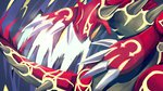 claws fangs groudon highres kyogre markings mirelle94 no_humans omega_symbol pokemon pokemon_(game) pokemon_oras pokemon_rse primal_groudon wallpaper