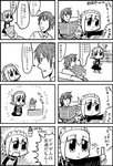 1boy 1girl 3ldkm 4koma android bangs baseball big_zam bkub blunt_bangs bottle cactus check_translation comic controller couch duckman emphasis_lines flower_pot frown fumimi game_console game_controller greyscale holding holding_controller holding_paper maid maid_headdress messy_hair monochrome multiple_4koma newspaper paper shirt short_hair shouting simple_background sitting speed_lines spray_bottle sweatdrop swinging television translation_request tsuneda two_side_up white_background wii wii_remote