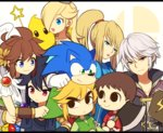 black_hair blonde_hair blue_eyes brown_hair chiko_(mario) crossover dark_pit doubutsu_no_mori fire_emblem fire_emblem:_kakusei kid_icarus kid_icarus_uprising link long_hair male_my_unit_(fire_emblem:_kakusei) mario_(series) metroid mole mole_under_mouth multiple_boys multiple_crossover my_unit_(fire_emblem:_kakusei) phrygian_cap pikmin pikmin_(creature) pit_(kid_icarus) ponytail rosetta_(mario) samus_aran short_hair smile sonic sonic_the_hedgehog super_mario_bros. super_mario_galaxy super_smash_bros. the_legend_of_zelda the_legend_of_zelda:_the_wind_waker toon_link villager_(doubutsu_no_mori) white_hair wings wusagi2 zero_suit