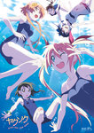 5girls air_bubble bad_id barefoot black_hair blonde_hair breath brown_hair derivative_work freediving highres holding_breath kakao_(watagashi) kirisaki_chitoge long_hair long_legs miyamoto_ruri multiple_girls nisekoi onodera_kosaki orange_hair ponytail school_swimsuit short_hair swimming swimsuit tachibana_marika tsugumi_seishirou underwater