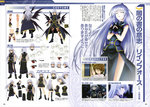2girls absurdres angry arm_strap black_dress black_legwear black_panties black_wings brown_hair character_sheet closed_eyes dress facial_mark fingerless_gloves frown gloves highres jacket long_hair lyrical_nanoha mahou_shoujo_lyrical_nanoha mahou_shoujo_lyrical_nanoha_a's mahou_shoujo_lyrical_nanoha_the_movie_2nd_a's multiple_girls multiple_wings official_art okuda_yasuhiro open_mouth panties red_eyes reinforce sad short_dress short_hair side_slit silver_hair single_thighhigh smile sweater thigh_strap thighhighs tome_of_the_night_sky underwear wings wrist_straps yagami_hayate