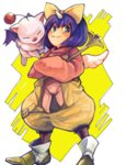 1girl blue_hair drawr eiko_carol final_fantasy final_fantasy_ix horn joy_2867 moogle