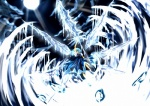 (9) 1girl cirno crystal_sword dutch_angle highres ice polearm solo spear sword touhou weapon wings zhu_fun
