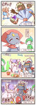 4koma bisharp comic gallade highres mienshao pokemon sougetsu_(yosinoya35) translation_request weavile