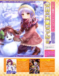 1girl absurdres angel_beats! beanie blue_hat brown_mittens coat goto_p hat highres hoshino_yumemi long_hair mittens multicolored multicolored_clothes multicolored_scarf na-ga pantyhose pink_coat plaid plaid_scarf planetarian scarf silver_hair snowman solo squatting tenshi_(angel_beats!) winter_clothes yellow_eyes yuri_(angel_beats!) yusa_(angel_beats!)