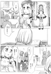 1boy aquarion_(series) aquarion_evol bad_id bad_pixiv_id comic dress gloves greyscale hair_ornament jin_musou monochrome multiple_girls satomi_(n-s_freedom) short_hair tama_(aquarion) translation_request yunoha_thrul