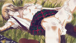 1girl after_rape after_sex ayase_chihaya blush bra bra_lift breasts brown_hair bruise chihayafuru cum cum_in_pussy cum_on_body cum_on_breasts cum_on_upper_body cum_pool facial injury lips long_hair lostunicorn marker_(medium) md5_mismatch necktie necktie_removed nipples open_clothes open_shirt panties panties_around_one_leg plaid plaid_skirt pubic_hair rape school_uniform shirt shoes_removed skirt skirt_lift small_breasts solo spread_legs striped striped_bra traditional_media underwear