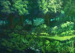 aruken commentary forest grass light_rays nature no_humans original outdoors scenery tree