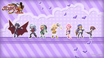 3boys 4girls arms_up belt black_hair black_legwear blonde_hair blue_eyes bright_pupils brown_eyes brown_hair cape chibi closed_eyes copyright_name desco_(disgaea) disgaea emizel_(disgaea) fenrich_(disgaea) gloves grey_hair hair_tubes hand_on_hip harada_takehito hat highres jacket kazamatsuri_fuuka long_hair makai_senki_disgaea_4 messy_hair monster_girl multiple_boys multiple_girls nagi_clockwork official_art one_eye_closed orange_eyes outstretched_arms pants payot pink_hair pointing purple_hair red_eyes shoes short_hair skirt spread_arms standing tail tan thighhighs twintails valvatorez_(disgaea) vulcanus_(disgaea_4) wallpaper white_legwear wrench