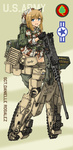 1girl animal_ears backpack bad_id bad_pixiv_id bag blue_eyes boonie_hat brown_hair browning_m2 camouflage cat_ears character_name character_portrait choco-chip_(camouflage) commentary dakku_(ogitsune) emblem freckles full_body gun heavy_machine_gun liberion load_bearing_equipment m1_abrams_(personification) machine_gun magazine_(weapon) mecha_musume military open_mouth panties smile solo standing strike_witches_1991 striker_unit underwear uniform weapon world_witches_series