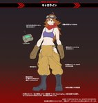 caroline_(metal_slug) controller goggles goggles_on_head metal_slug metal_slug_attack official_art red_scarf remote_control scarf