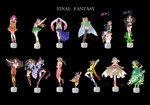 6+girls aerith_gainsborough ass bikini black_background black_hair blonde_hair blue_eyes bow braid breasts brown_hair cape celes_chere copyright_name crossover detached_sleeves dress dual_persona earrings eiko_carol elbow_gloves figure final_fantasy final_fantasy_iv final_fantasy_ix final_fantasy_v final_fantasy_vi final_fantasy_vii final_fantasy_vii_advent_children final_fantasy_x final_fantasy_x-2 garnet_til_alexandros_xvii gloves green_eyes green_hair hair_ornament hair_ribbon headband highres holixholi jewelry krile_mayer_baldesion lenna_charlotte_tycoon lenne long_hair multiple_girls pantyhose ponytail ribbon rikku rydia sabotender scarf short_hair simple_background square_enix strapless strapless_dress swimsuit tifa_lockhart tina_branford yuffie_kisaragi yuna_(ff10)