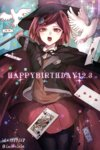 1girl bird bow cape card danganronpa dove hair_ornament hairclip happy_birthday hat holding holding_staff new_danganronpa_v3 open_mouth pantyhose pleated_skirt red_hair short_hair skirt solo staff witch_hat yumeno_himiko z-epto_(chat-noir86)