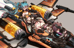 2girls ahegao all_fours aqua_hair ass blue_eyes brown_hair crying crying_with_eyes_open dildo gagged hatsune_miku heart heart-shaped_pupils kvpk5428 long_hair motion_blur multiple_girls navel needle oral restrained sex_machine space_craft star_wars stationary_restraints stomach symbol-shaped_pupils tears twintails vocaloid x-wing