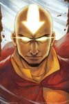 1boy aang avatar_(series) bald beard closed_mouth commentary english_commentary face facial_hair glowing glowing_eyes glowing_tattoo looking_at_viewer male_focus qinni serious solo the_legend_of_korra watermark web_address