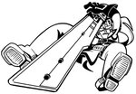 1boy belt_boots belt_buckle bkub blank_eyes boots buckle clenched_teeth from_below frown gloves greyscale guilty_gear headband jumping loincloth long_hair monochrome sol_badguy stabbing strap sword teeth weapon