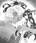anus ass blush breast_grab breasts clitoris danua deep_skin draph eigaka grabbing grabbing_from_behind granblue_fantasy greyscale hair_over_one_eye highres horn_ornament horns huge_breasts huge_nipples large_penis long_hair monochrome multiple_views navel nude penis plump pointy_ears pussy sex stomach_bulge testicles thick_thighs thighs unaligned_breasts uncensored vaginal