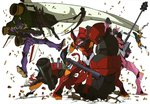 bullet eva_00 eva_01 eva_02 eva_08 evangelion:_3.0_you_can_(not)_redo gun imaishi_hiroyuki mecha neon_genesis_evangelion no_humans official_art rebuild_of_evangelion rifle weapon