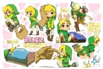 1boy animal_ears ass blonde_hair bunny_ears bunny_tail hat link miniboy pants pants_pull pointy_ears tail the_legend_of_zelda translated usb usikani