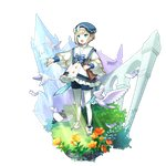 1boy artist_request bird blonde_hair blue_eyes book dragalia_lost elias_(dragalia_lost) feathers hat holding holding_book long_sleeves music non-web_source official_art open_mouth puffy_long_sleeves puffy_sleeves ribbon sailor_collar shirt short_hair singing standing white_legwear white_shirt