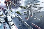 alien armd atomicgenjin commentary energy_cannon english_commentary epic fleet galactica macross macross_frontier mecha military military_vehicle n.u.n.s. no_humans picket_patrol_ship quiltra-queleual realistic redesign science_fiction sdf-1 space_craft star starry_background storm_attacker thurvel-salan turret u.n._spacy wormhole zentradi