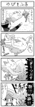 1boy 4koma alternate_costume blood coat comic crush_grip_(pokemon) gameplay_mechanics gen_4_pokemon greyscale kouki_(pokemon) metronome_(pokemon) monochrome pokemoa pokemon pokemon_(creature) pokemon_(game) pokemon_dppt pokemon_platinum porygon-z togekiss translated winter_clothes